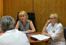 Первый замминистра провела прием граждан в Городской поликлинике №1